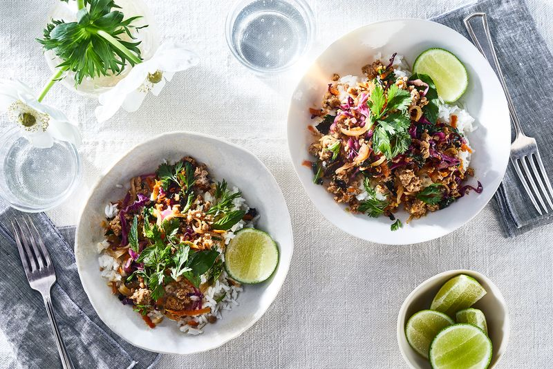 Pork larb is simple but complex, perfect for busy weeknights.
