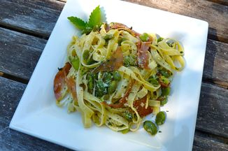 Springtime Pasta With Fava Beans And Herbed Ricotta Recipe
