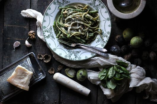 Ligurian Pasta with Pesto and Green Beans