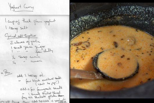 Morukachiathu (Yoghurt curry)