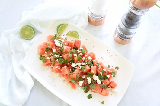 Fresh Watermelon, Mint and Feta Salad
