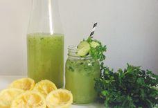 Cucumber-Cilantro Lemonade Cocktails