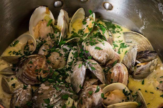 Open clams