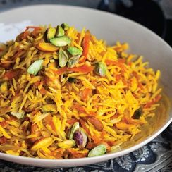 Sweet Rice with Carrots and Nuts