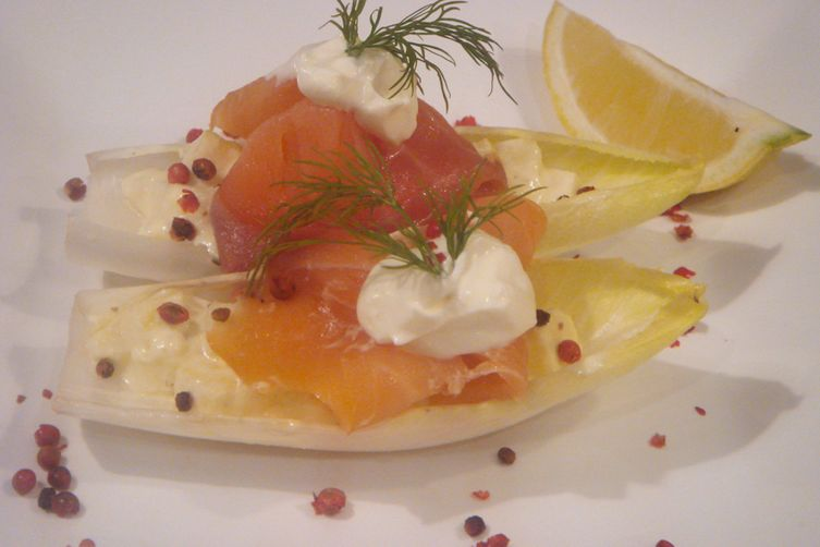 Apple Tartare with Smoked Salmon