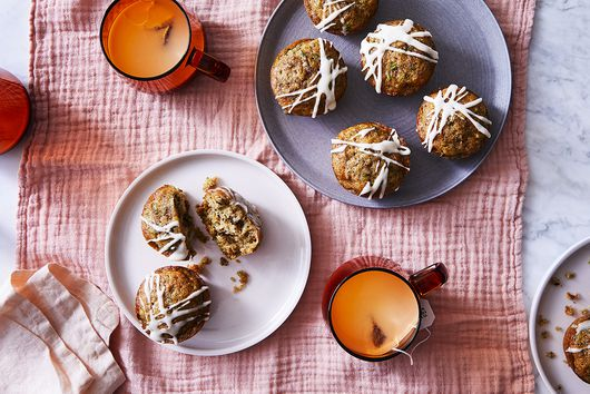Zucchini Muffins With Oat Milk Glaze