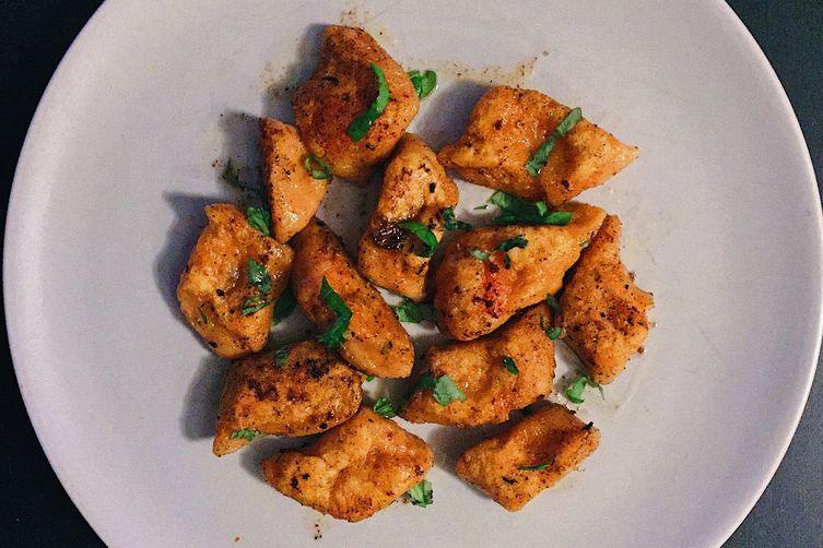 sweet potato gnocchi with a lemon beurre noisette and basil