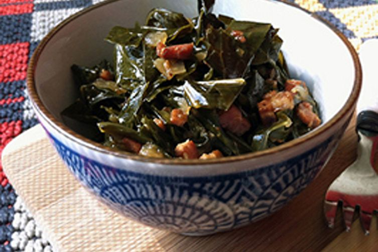 Braised Collard Greens with Bacon