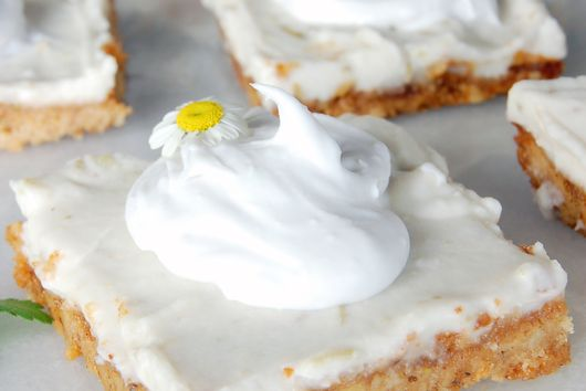 GRAIN FREE + VEGAN LIME PIE BARS