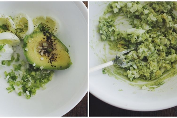 Avocado-Egg(White) Salad