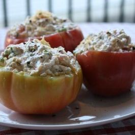Fresh Summery Stuffed Tomatoes