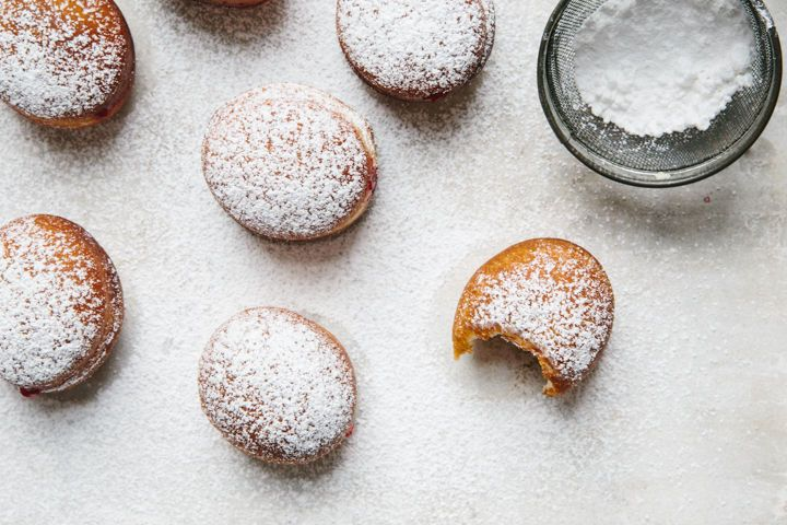 Cranberry Jam-Filled Donuts on Food52
