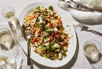 A Greek-ish Pasta Salad That Will Never, Ever Bore You