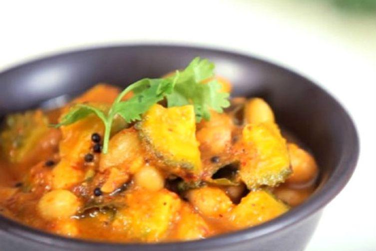 Pavakkai pitlai bitter ground and groundnut curry recipe