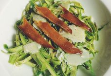 Shaved Asparagus and Fennel Salad with Smoked Trout