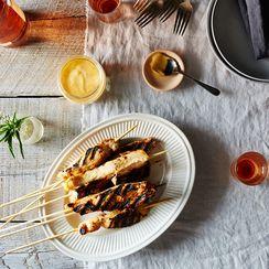 Spiced Honey-Orange Chicken Skewers