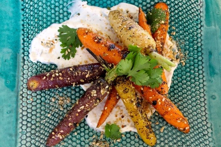 Savory Coconut Dukkah Grilled Carrots  (by Kay Wilson)