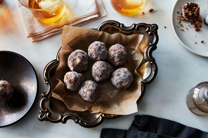 Some of Aunt Jane's sugar—her Kentucky bourbon balls.