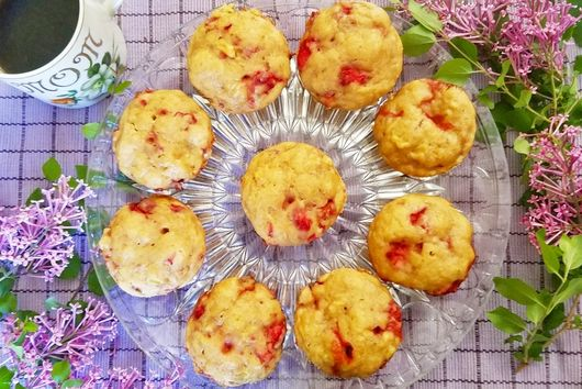 Strawberry Banana Mother's Day Muffins