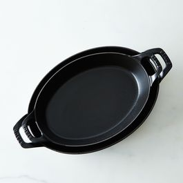 Staub Medium Cast Iron Oval Roasting Dishes