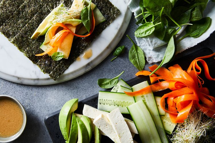 Easy Vegetable Nori Wraps