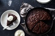 Dark Chocolate-Olive Oil Skillet Banana Bread