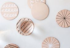 A Cut-Out, Doodle-able Leather Coaster DIY for the Craft-Averse