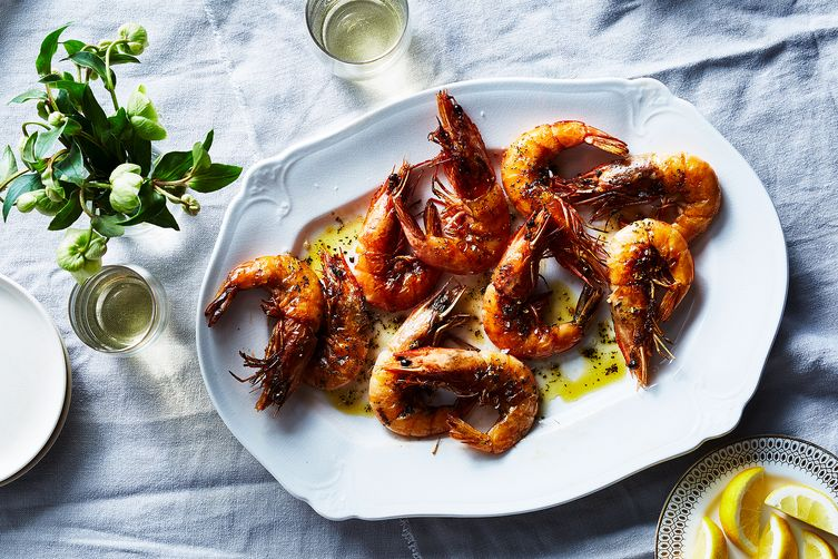 Shell-On Shrimp with Rosemary, Garlic & Chile