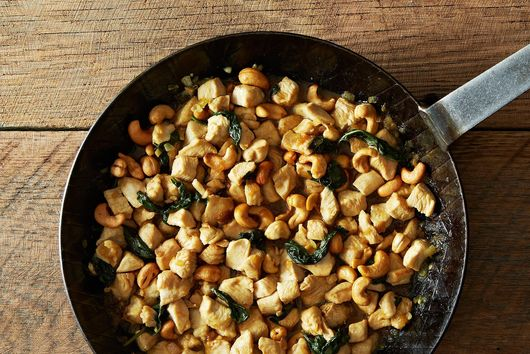 Minced Chicken and Cashew with Thai Basil