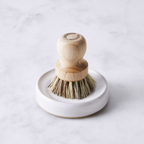 Handmade Scrub Brush Set with Natural Fiber Bristles