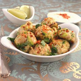 Persian Chicken Meatball Poppers with Fresh Lime & Chili