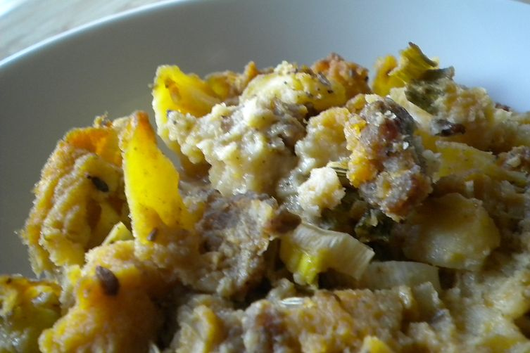 Fennel Scented Potato and Sausage Dressing