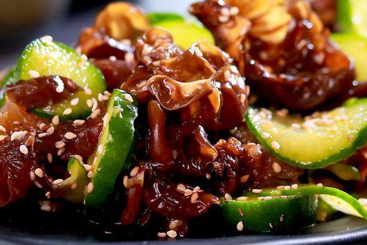 Chilled Cucumber and Woodear Mushroom Salad