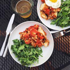 Warm Tomato, White Bean & Sourdough Salad