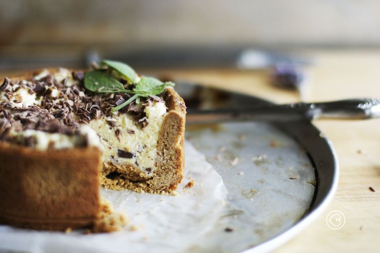 gingerbread crust cheese tart