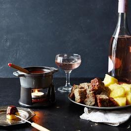 Staub Mini Chocolate Fondue Set