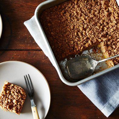 Vegan Peach Crumble Coffee Cake