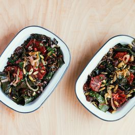 Rainbow Chard and Wild Rice Salad with Blood Orange Vinaigrette