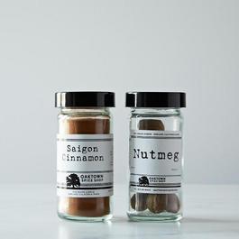 Oaktown Spice Shop Saigon Cinnamon (Ground) / Nutmeg (Whole) Bundle