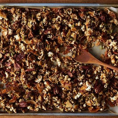 Watch How to Turn a Bag of Popcorn into a Batch of Granola (& Breakfast)