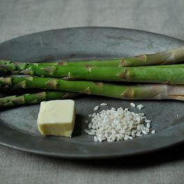 Browned Butter Asparagus Risotto