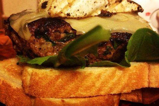 Kofta Burger with Brie & Swiss