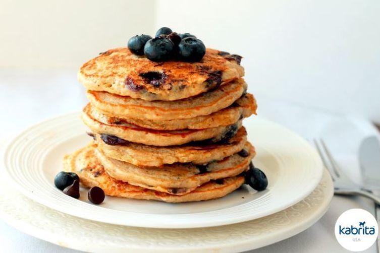 Blueberry Almond Gluten-Free Pancakes