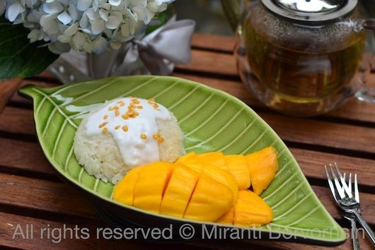Mango with Sticky Rice, Khao Niaow Ma Muang