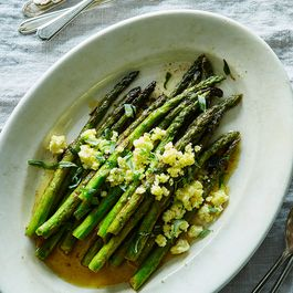 Pan Roasted Asparagus by Marivic Restivo
