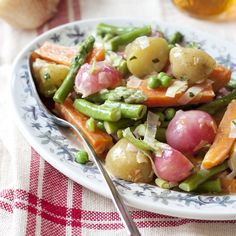 Spring Vegetable Jumble with Lemon-Tarragon Butter