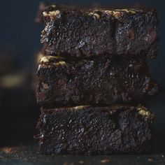 Tahini Caramel Black Bean Brownies