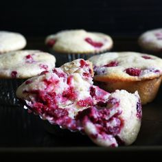 Raspberry Ricotta Cake Muffins