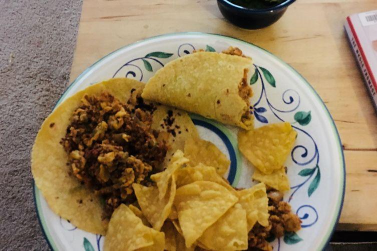 Dad's Chorizo and Egg Breakfast Tacos