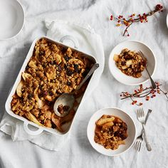 Pear Crisp with Dried Sour Cherries